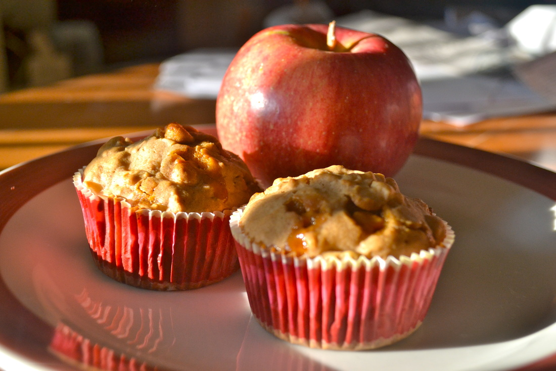 Apple Butterscotch Cinnamon Muffins